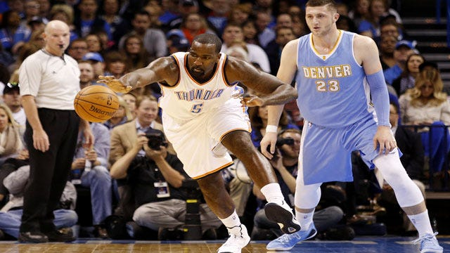 Perkins' Big Night Helps Thunder Hold Off Nuggets