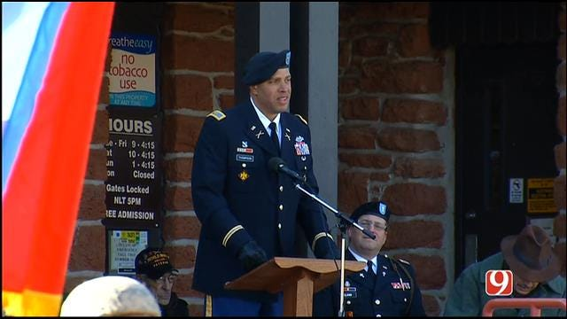 Col. Michael Thompson Speaks At Veterans Day Ceremony In OKC
