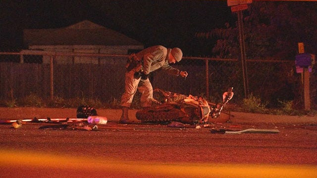 Police Investigate Fatal Crash Involving Motorcycle And Car In SE OKC