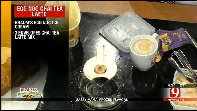 Egg Nog Chai Tea Latte