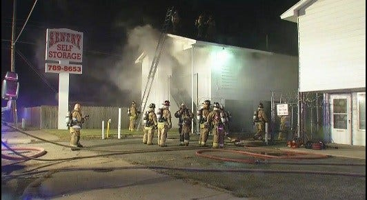 Officials: Homeless Man Burned In Fire At Warr Acres Storage Unit