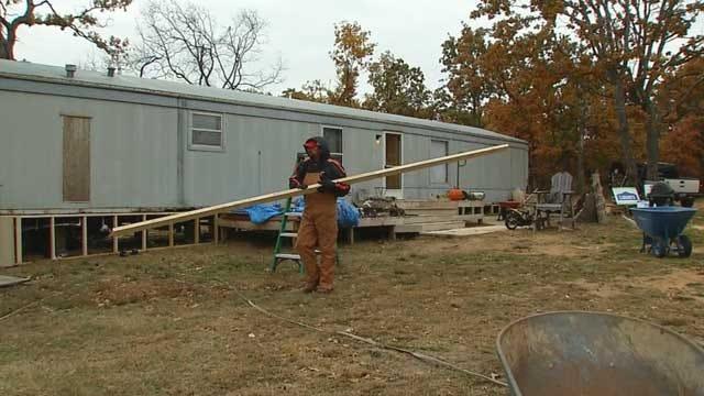 Volunteers Brave The Cold To Help Tornado Victims Rebuild