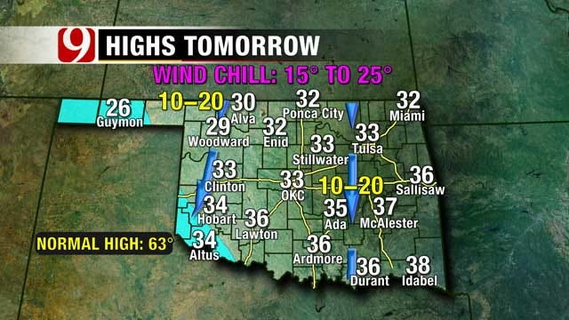 Wintry Precipitation On The Way To Oklahoma This Weekend