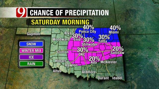 Chance For Snow This Weekend, Warm-Up Next Week