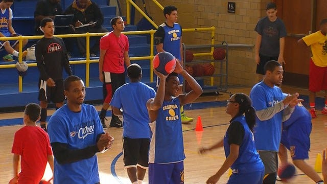 OKC Thunder Players Lace Up For Camp At Metro Boys And Girls Club