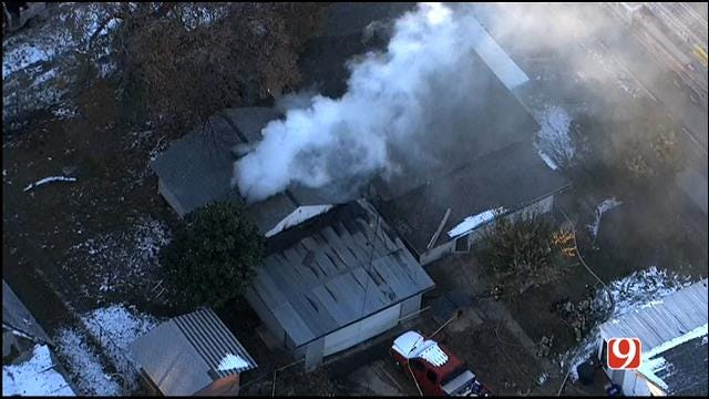 Firefighters Douse Blaze At SW OKC Home
