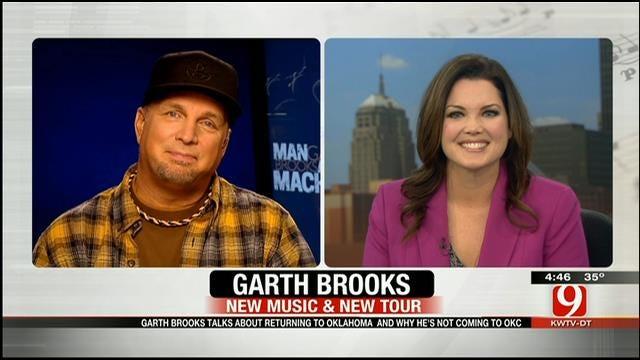 Garth Brooks Talks To News 9's Lacie Lowry About His Return To Oklahoma