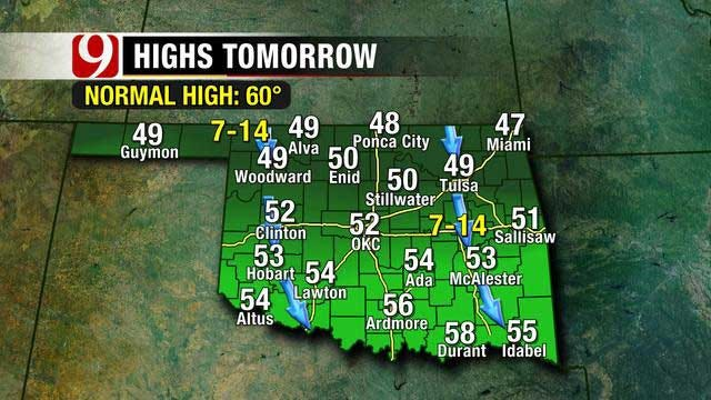 Storm Chances Increase For Weekend In Oklahoma