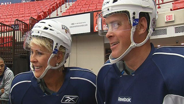 Take This Job And Love It: Tammy And Jed As OKC Barons Players