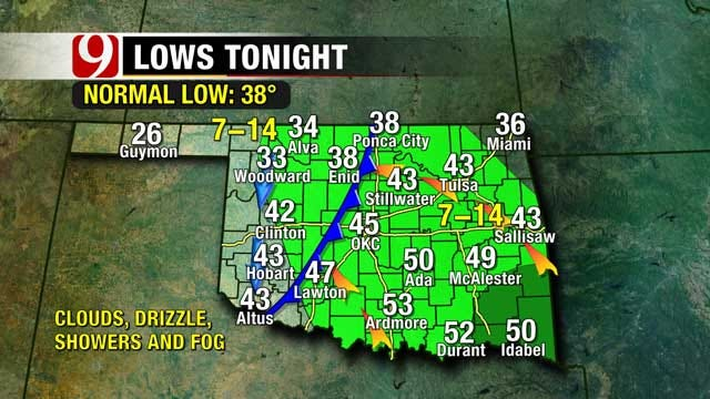 Wet, Gloomy Weekend Shaping Up For OKC