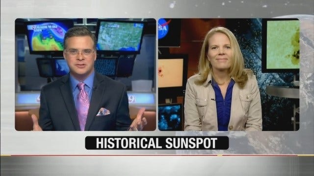 Jed Castles Talks To NASA About Historical Sunspot Rotating To Face Earth