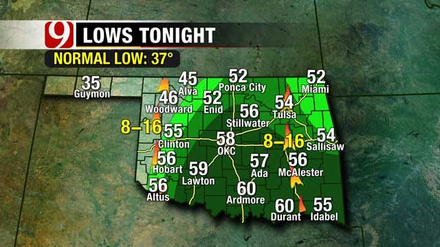 Storm System Headed For Oklahoma, Cold Front Sweeps In Sunday
