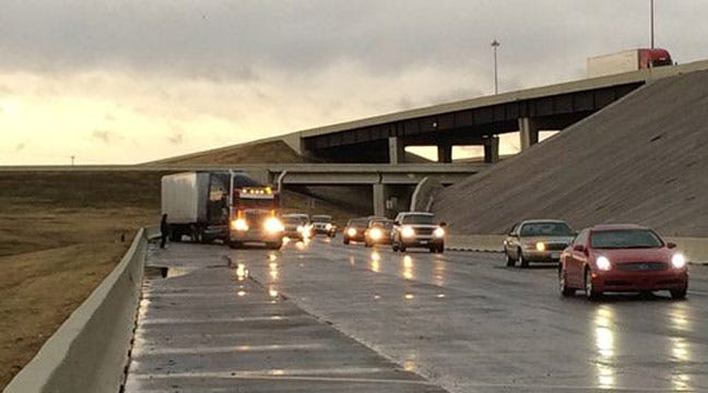 Hazmat Crews Called To Jackknifed Semi On Interstate 40 In OKC
