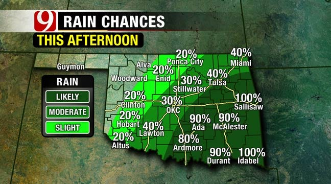 Spring-Like Temperatures In A Rainy Saturday Forecast