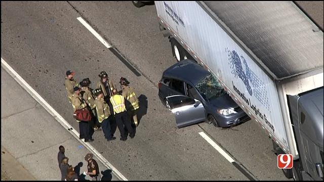 Crash Involving Semi Slows Traffic On SB I-44, Near NW 10th In OKC