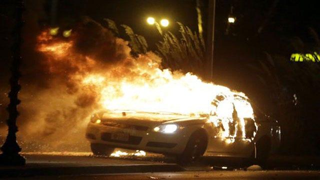Fires, Vandalism, Gunfire Follow Grand Jury Decision In Ferguson