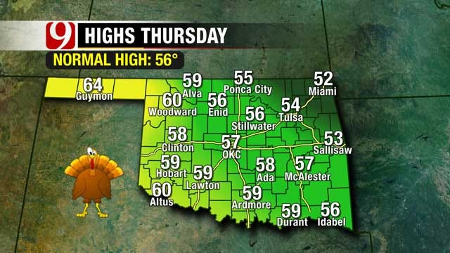 Chilly Nights And Cool Days Continue Through Thanksgiving