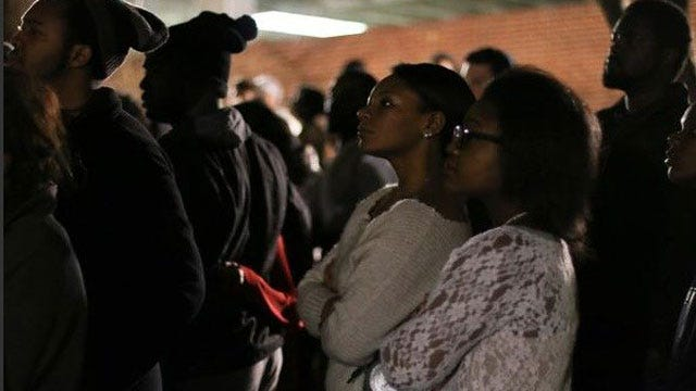OU Students Host Moment Of Silence For Events In Ferguson, MO