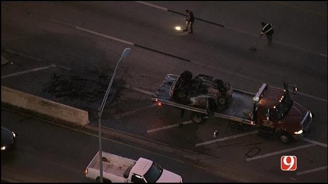 TRAFFIC ALERT: Vehicle Fire Backs Up Traffic For Miles On SB I-35