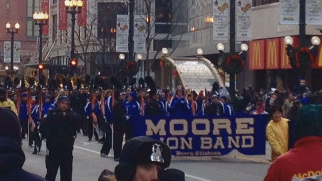 Moore High School Band Marches In Chicago Thanksgiving Day Parade