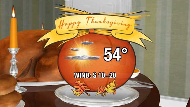 Sunny And Cool On Thanksgiving In Oklahoma