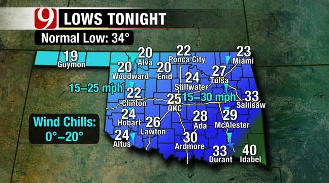 North Wind To Blow Cold Front Into Oklahoma