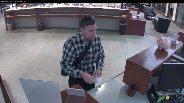 Authorities Searching For Edmond Bank Robbery Suspect