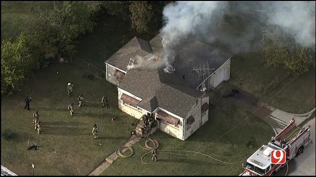 Crews Douse House Fire Near OCU Campus In NW OKC