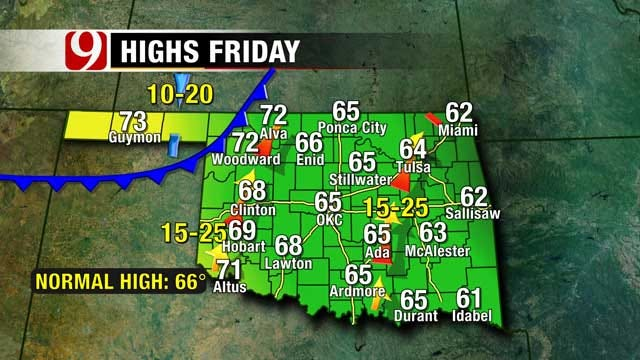 Fall Weather Pattern Continues For Oklahoma, Winter Creeping Up