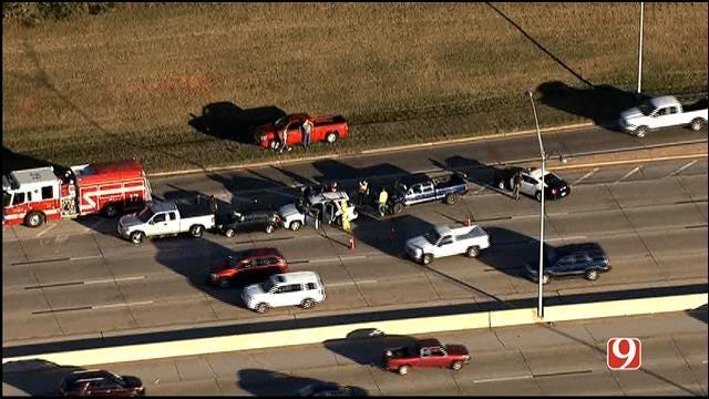 Emergency Crews Respond To Crash Involving Multiple Vehicles