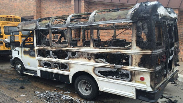 Salvation Army Bus Torched Overnight In Shawnee