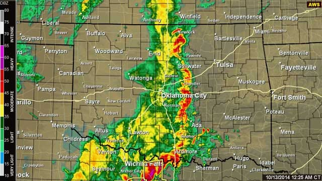 Severe Thunderstorm Advisories Issued For Oklahoma Sunday Night