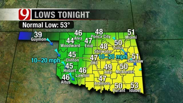 Mostly Clear, Chilly Overnight In Oklahoma