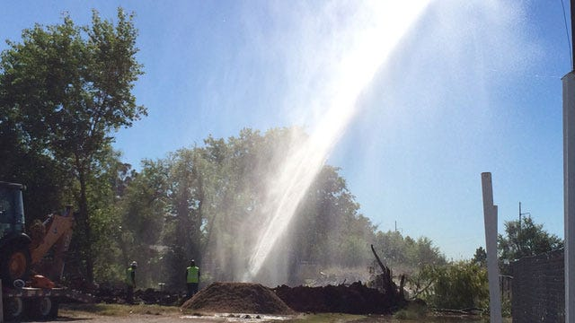 Construction Crew Cuts Water Main In NW OKC