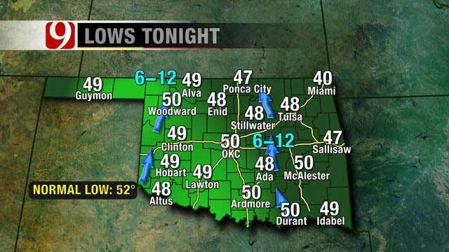Temperatures Drop To Upper 40s Tonight, Return To 80s Thursday