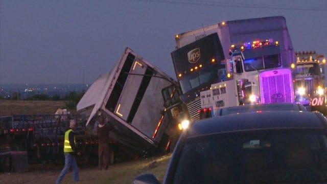 Two Killed In Crash Involving Two Semi-Trucks On Turnpike In Grady Co.