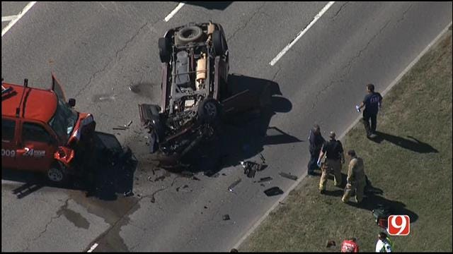 Crews On Scene Of Two-Vehicle Collision In NW OKC