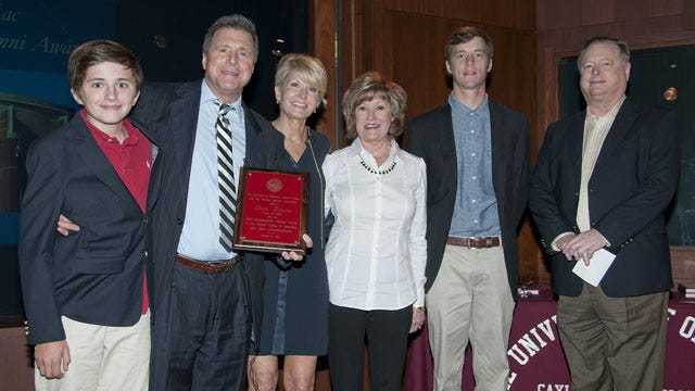 Dean Blevins Honored As Gaylord College Distinguished Alumnus