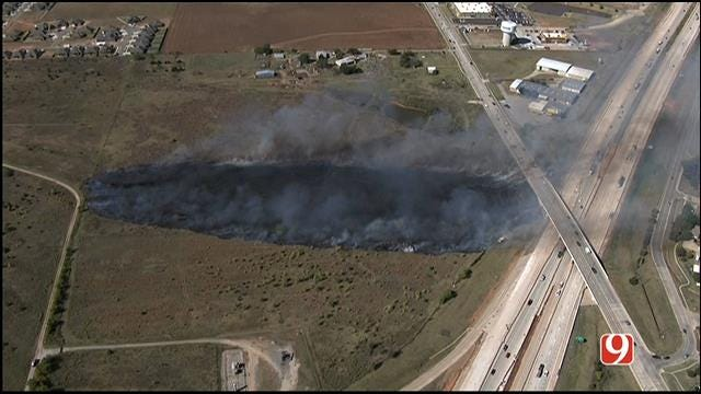 I-40 Near Yukon Re-Opens After Brief Shut Down Due To Grass Fire
