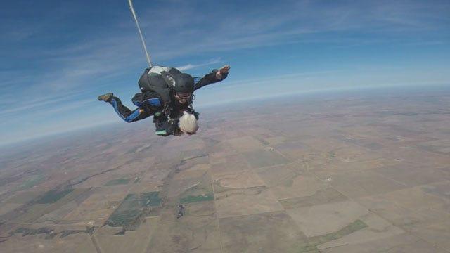 91-Year-Old OK Nursing Home Resident Goes Skydiving