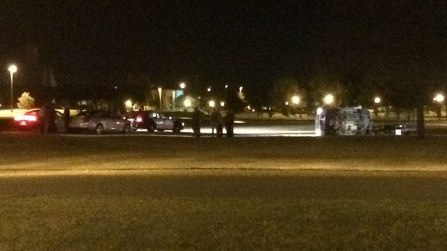 Police: Health Condition Possibly Led To Rollover Wreck On OC Campus