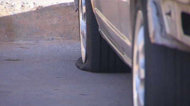 Vandal Slashes Tires On Dozens Of Cars At SW OKC Apartments