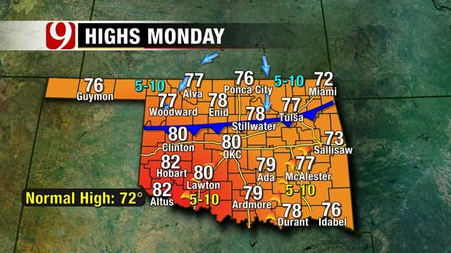 Temperatures Climb To Mid 70s Sunday Afternoon
