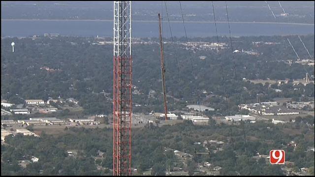 Deconstruction Work Begins At KWTV's Historic Broadcast Tower