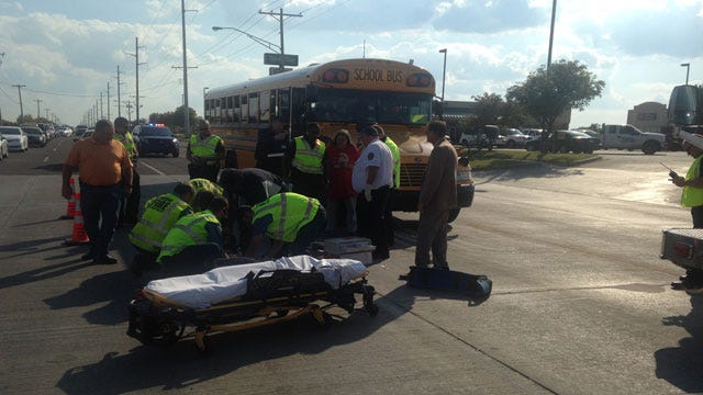 Teen Bicyclist Hit By School Bus At Moore Intersection