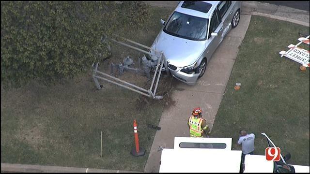 Car Crashes Into Gas Meter In Edmond