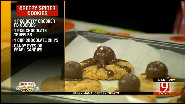 Creepy Spider Cookies
