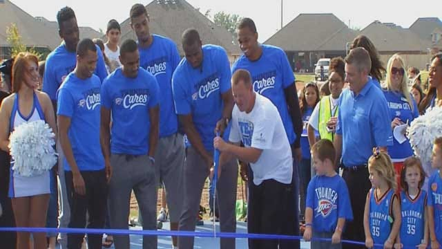 OKC Thunder Dedicates New Basketball Courts In Moore