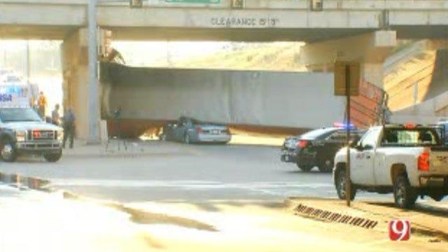 Two Injured In Crash Involving Semi-Truck In NE OKC