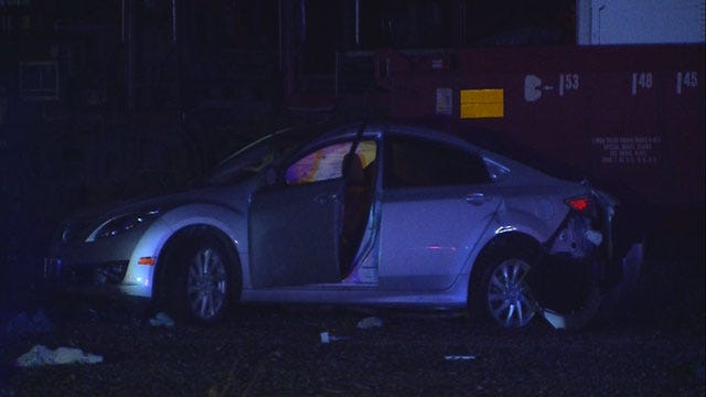 Train Slams Into Stalled Car In NW OKC
